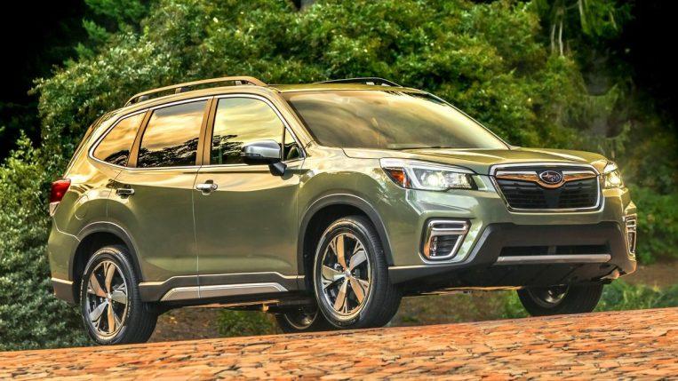 2019 Subaru forester in green.