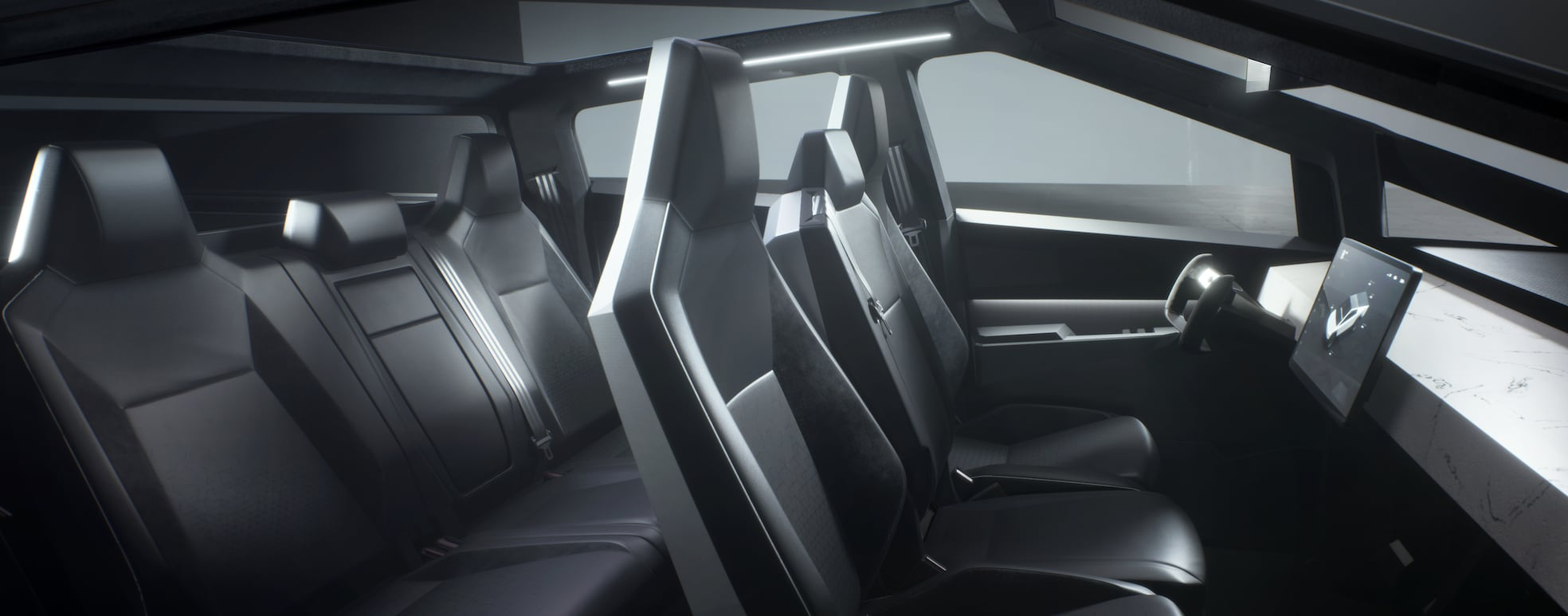 Tesla Cybertruck Interior and Seating,