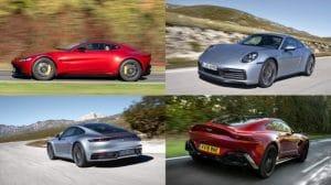 2020 Aston Martin Vantage And 2020 Porsche 911 Carrera S Comparison Kelley Blue Book