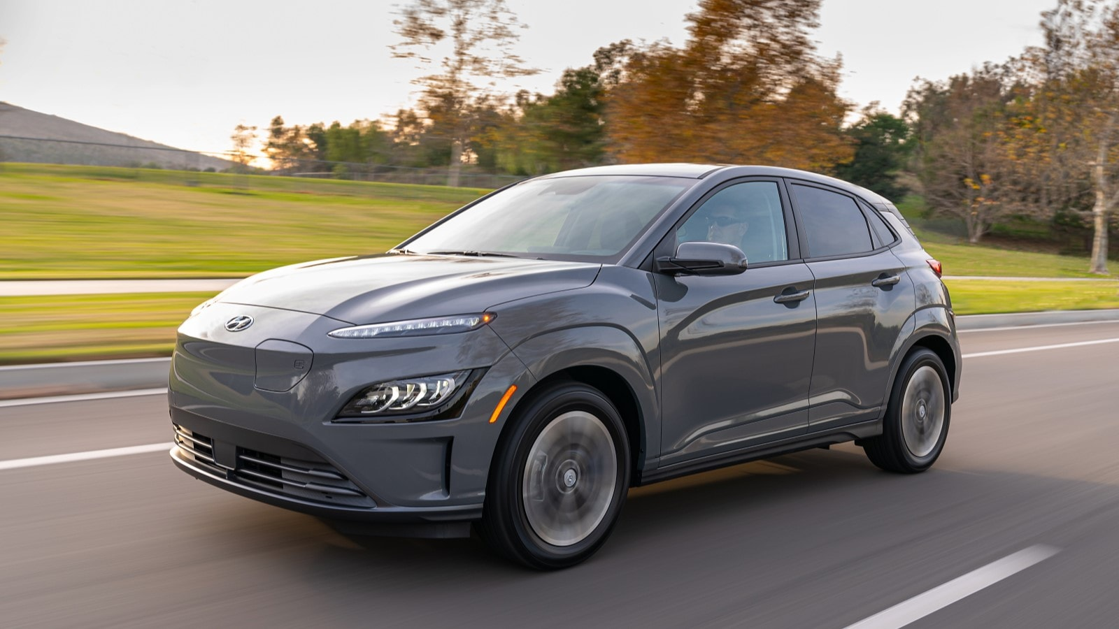2022 Hyundai Kona Electric in grey