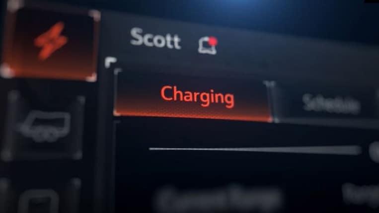 Charging status on Hummer EV