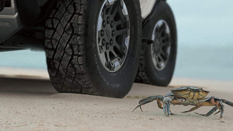 CrabWalk feature of the Hummer EV.