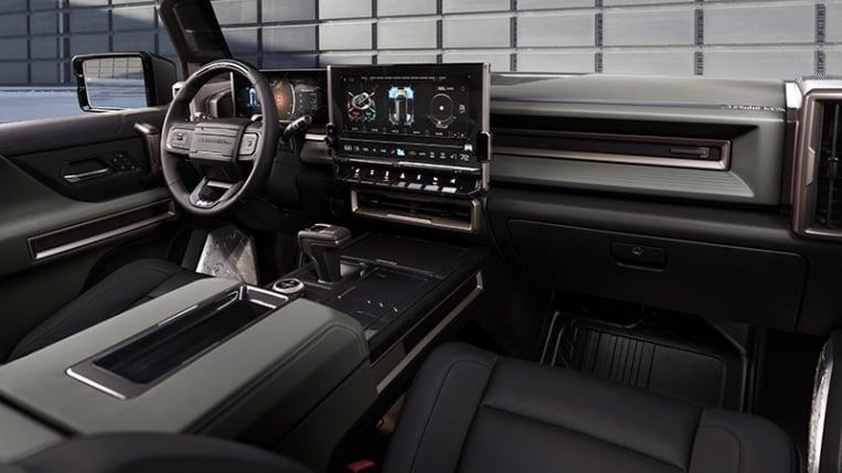 Interior of the 2024 Hummer EV
