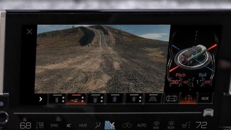 Ultravision display on Hummer EV.