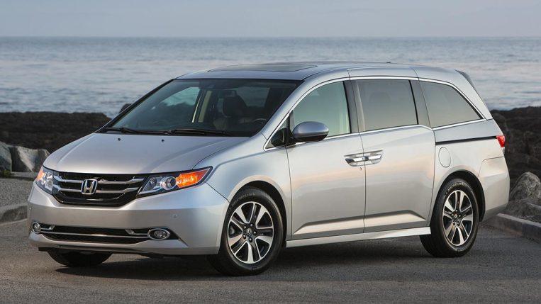 2017 Honda Odyssey in silver.