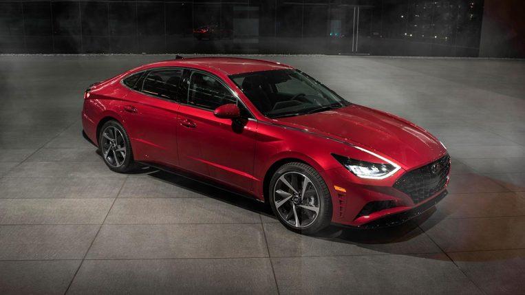 2022 Hyundai Sonata in red