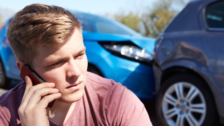 Auto insurance call after an accident